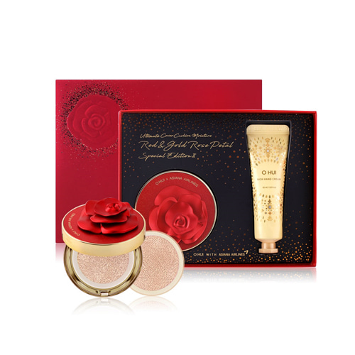 O HUI Ultimate Cover Cushion Moisture Red Rose Petal Edition