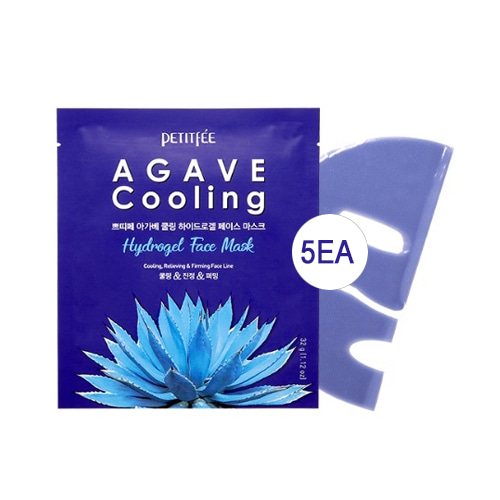 Petitfee Agave Cooling Hydrogel Face Mask 5ea