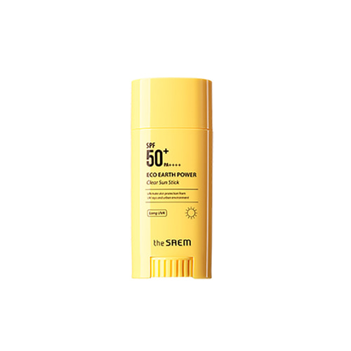 the SAEM Eco Earth Power Clear Sun Stick SPF50+ PA++++ 16g