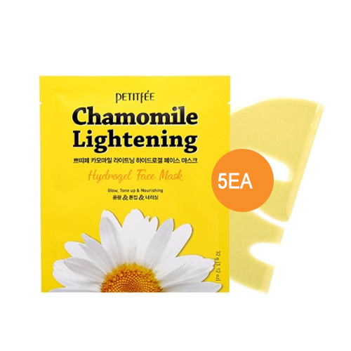 Petitfee Chamomile Lightening Hydrogel Face Mask 5ea