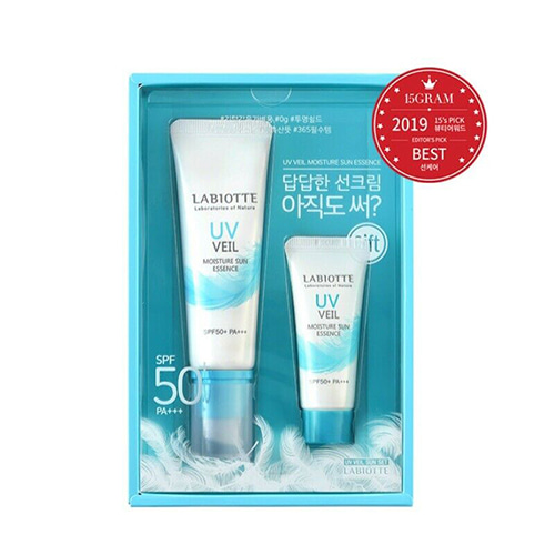 LABIOTTE UV Veil Moisture Sun Essence SPF50+ PA+++ 50ml + 20ml SET