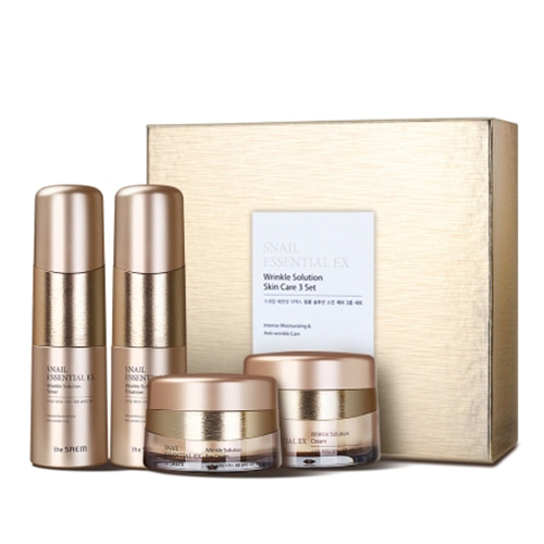 the SAEM Snail Essential EX Wrinkle Solution Skin Care 3 Set